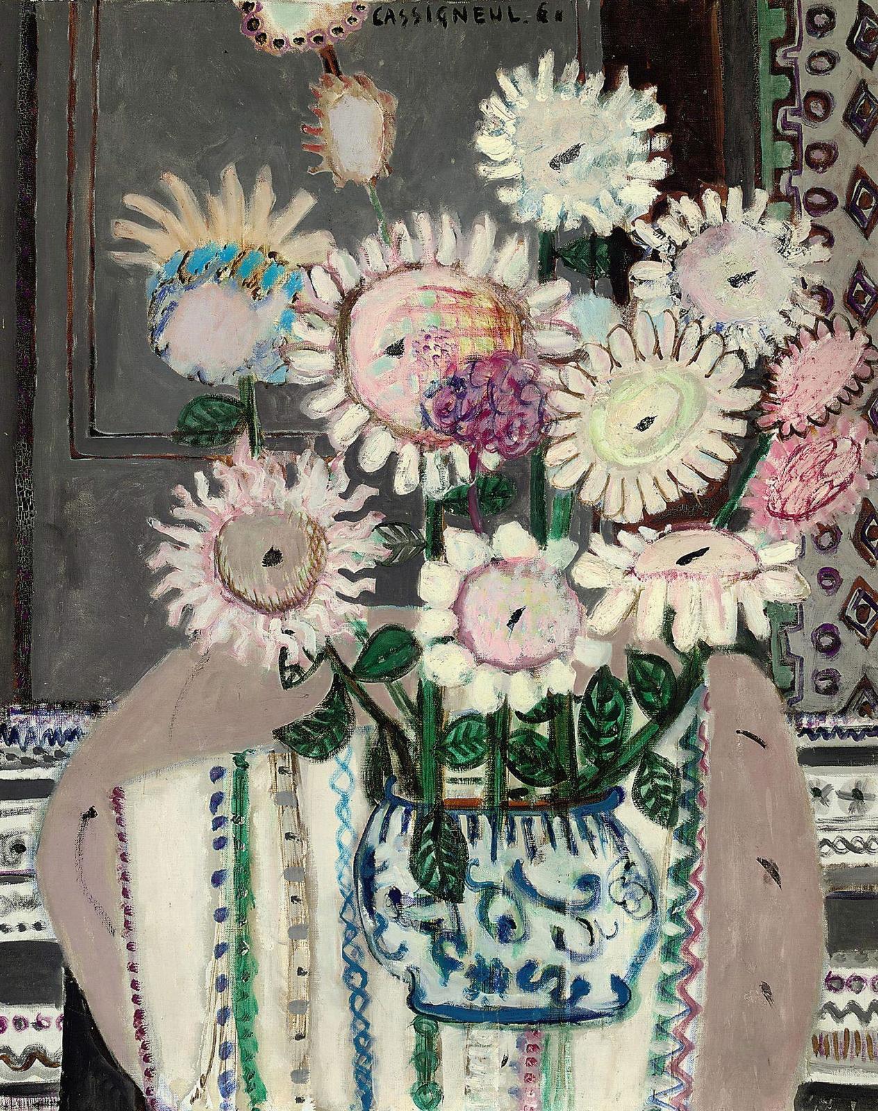 1960_Букет подсолнечников (Bouquet de tournesols)_93 x 75_х.,м._х.,м._Частное собрание.jpg