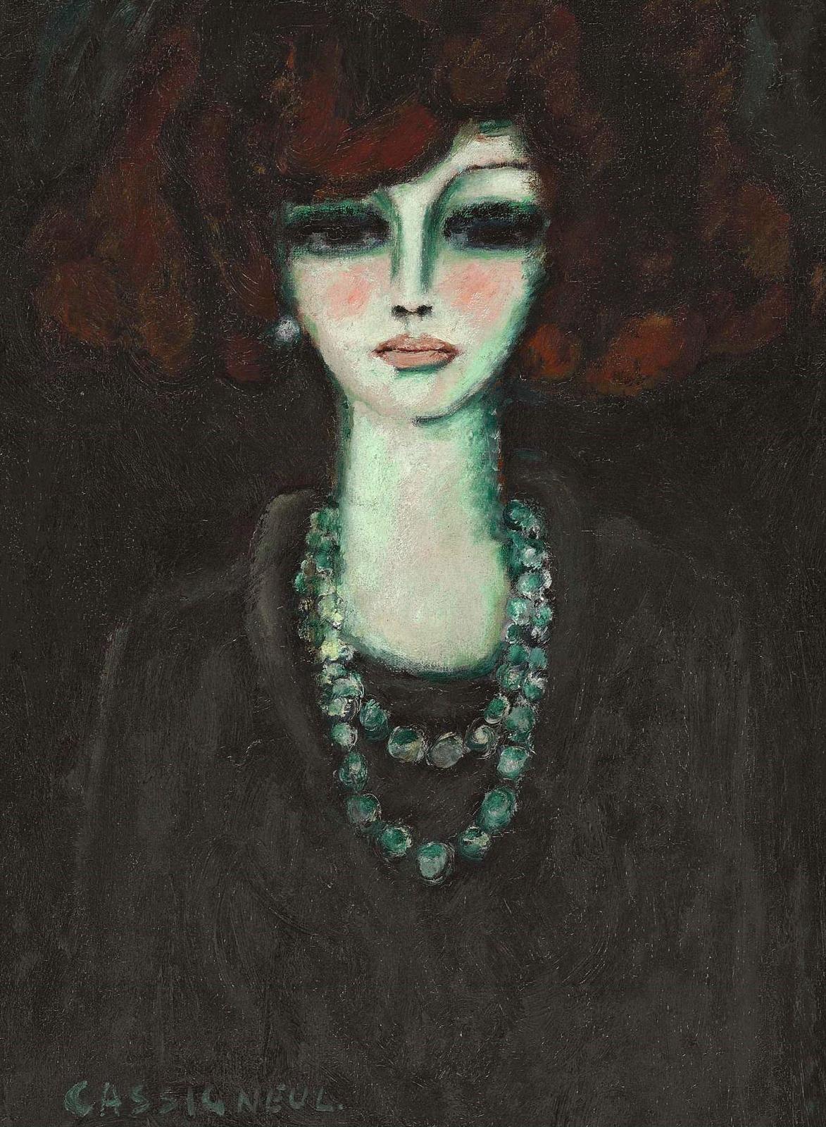 1967_Женщина с ожерельем (Femme avec le collier)_61 x 46_х.,м._Частное собрание.jpg