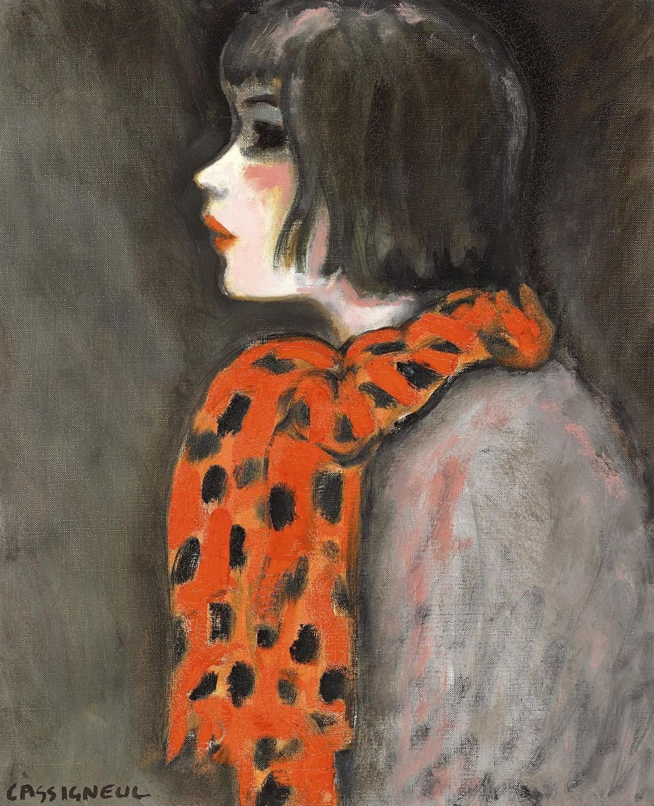 1969__________ ____ (L'echarpe Orange)_54.6 x 45.7__.,_.________ ________.jpg