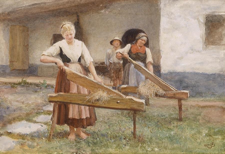 Hubert_von_Herkomer_Junge_Bäuerinnen_beim_Flachs_brechen_1885.jpg