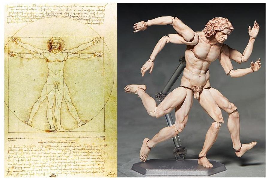 Витрувианский человек - Рисунок Леонардо да Винчи становится фигуркой