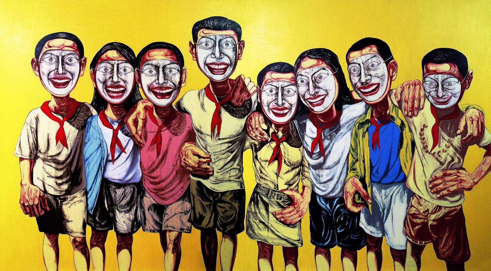 2_1996_Серия Личина, №6 (диптих) (Mask Series, No.6)_200 x 360_х.,м._Частное собрание (лот продан в мае 2008 в Гонконге за 9.600.000$).jpg