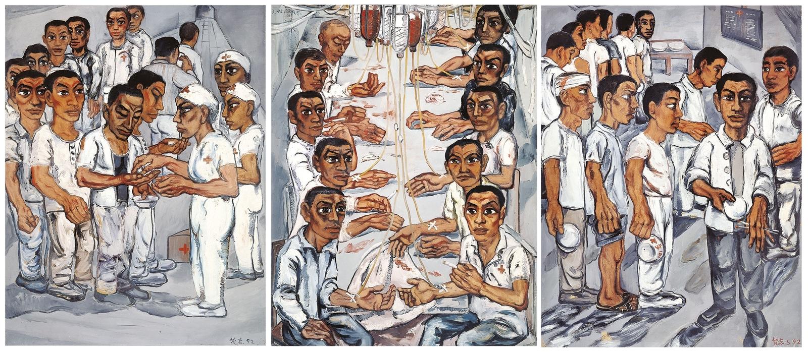 1992_Триптих Госпиталь (Hospital Triptych No.3)_150 x 115 каждый_х.,м._Частное собрание.jpg