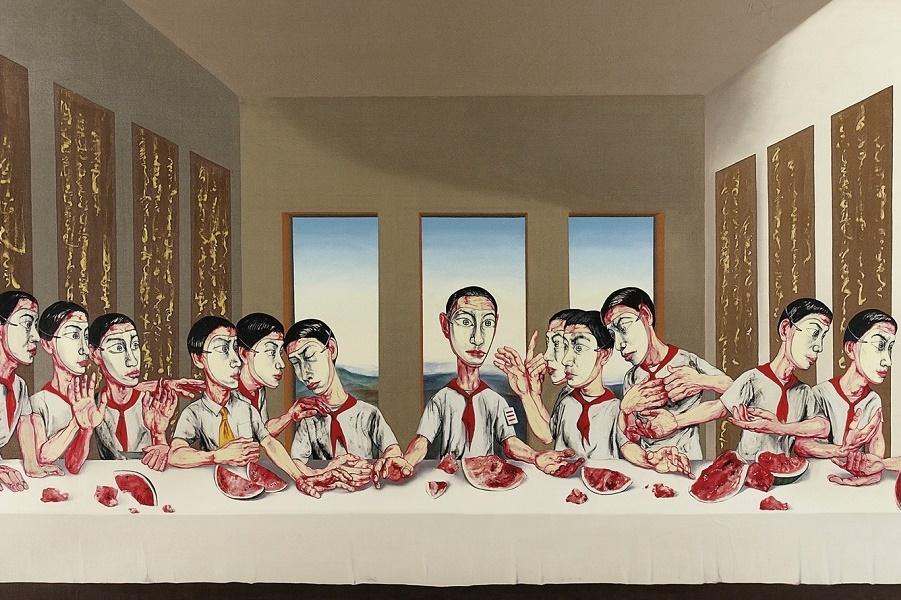 2001_Тайная вечеря (Last Supper)_220 х 400_х.,м._Частное собрание. (1).jpg