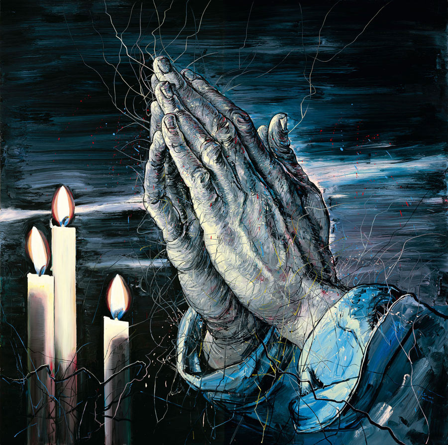 2012_Молящиеся руки (Praying Hands)_400 х 400_х.,м._Частное собрание.jpg