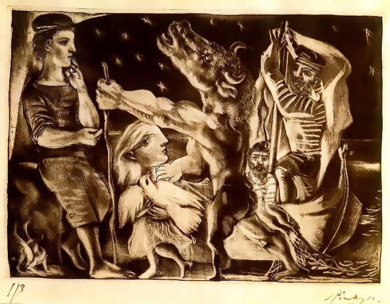 Pablo Picasso -  Blind Minotaur led by a little girl in the night, 1934.jpg