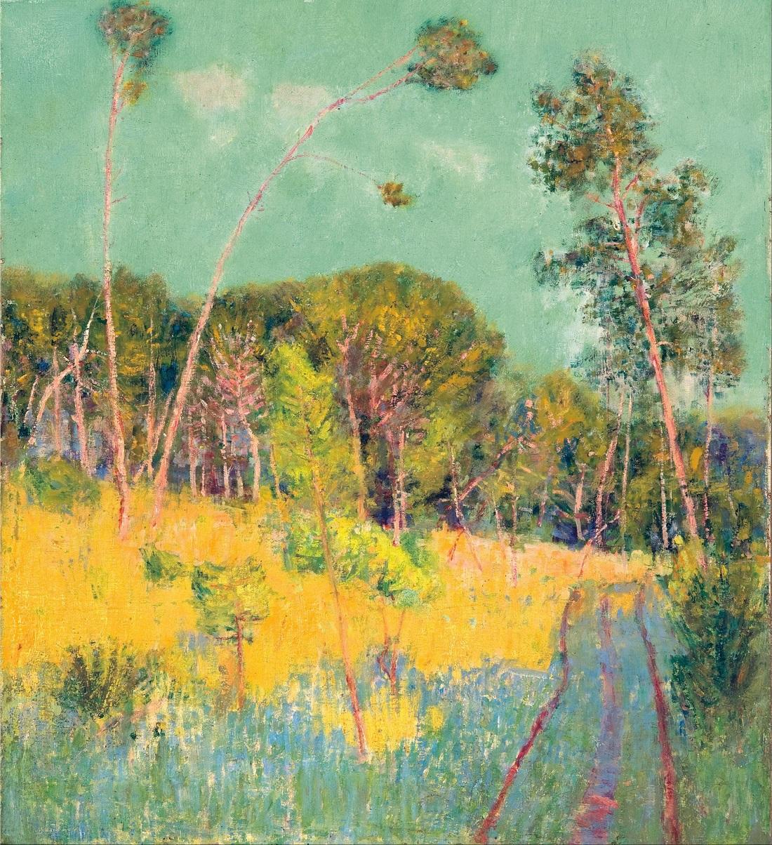 Живопись_Джон-Питер-Рассел_A-Clearing-in-the-Forest-1891.jpg
