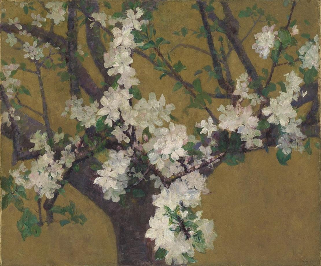 Живопись_Джон-Питер-Рассел_Almond-Tree-in-Blossom-1887.jpg