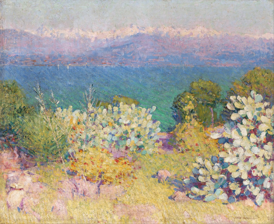 Живопись_Джон-Питер-Рассел_In-the-Morning-Alpes-Maritimes-from-Antibes-1891.jpg