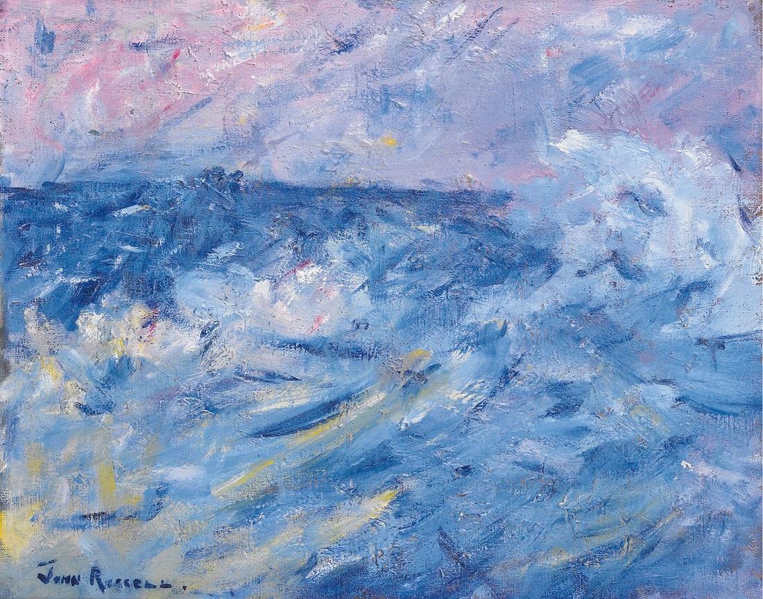 Живопись_Джон-Питер-Рассел_Stormy-Sky-and-Sea-Belle-Ile-off-Brittany-1890.jpg