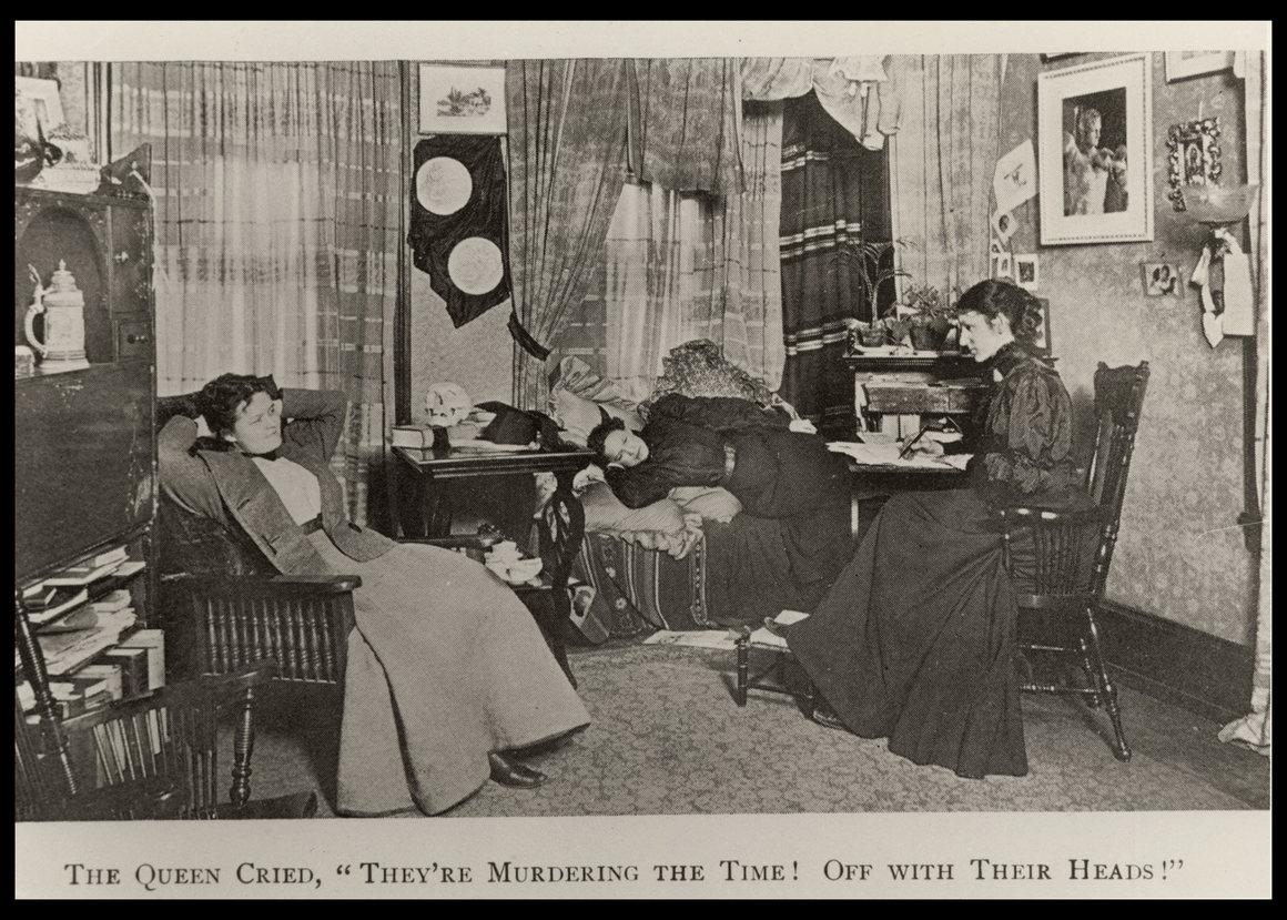 Три ученика в комнате интерната, из книги « Дочери Эскулапов» , c. 1890..jpg