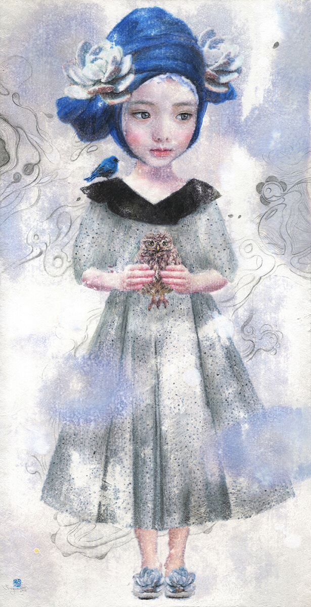 2.The Hibi doll 9(Eastern Watercolor, Acrylic on Hanji-27.56- x 14.17--2016) .jpg