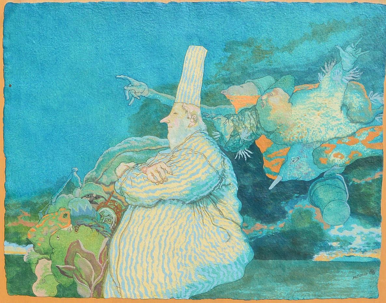 Alcorlo-Manuel-1986-Señalando-pintura-gouasche-papel-enmarcado-papel-50x6350-cms.-y-marco-67x83-cmsa.JPG