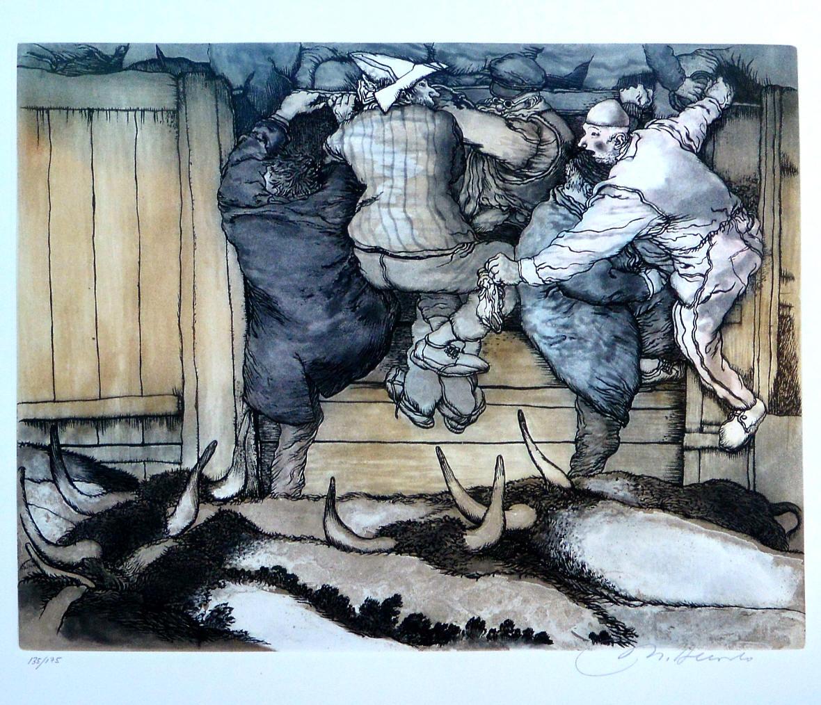 Alcorlo-Manuel-Azuzando-al-mar-de-toros-grabado-aguafuerte-aguatinta-color-edición-175-ejemplares-numerado-y-firmado-a-lápiz-plancha-34x4350-cms.-y-papel-51x62-cms.-6.jpg