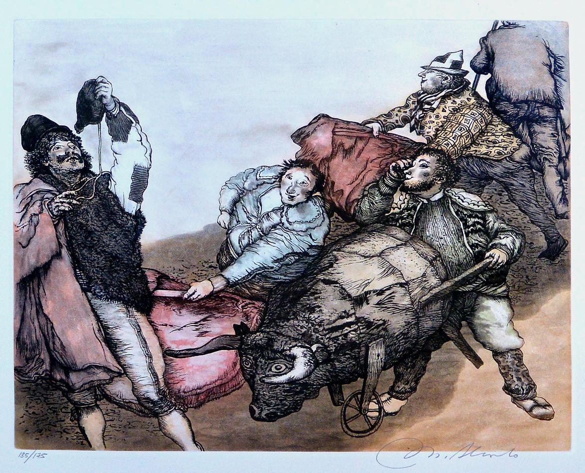 Alcorlo-Manuel-El-toro-de-Julito-grabado-aguafuerte-aguatinta-color-edición-175-ejemplares-numerado-y-firmado-a-lápiz-plancha-34x4350-cms.-y-papel-51x62-cms.-1.jpg