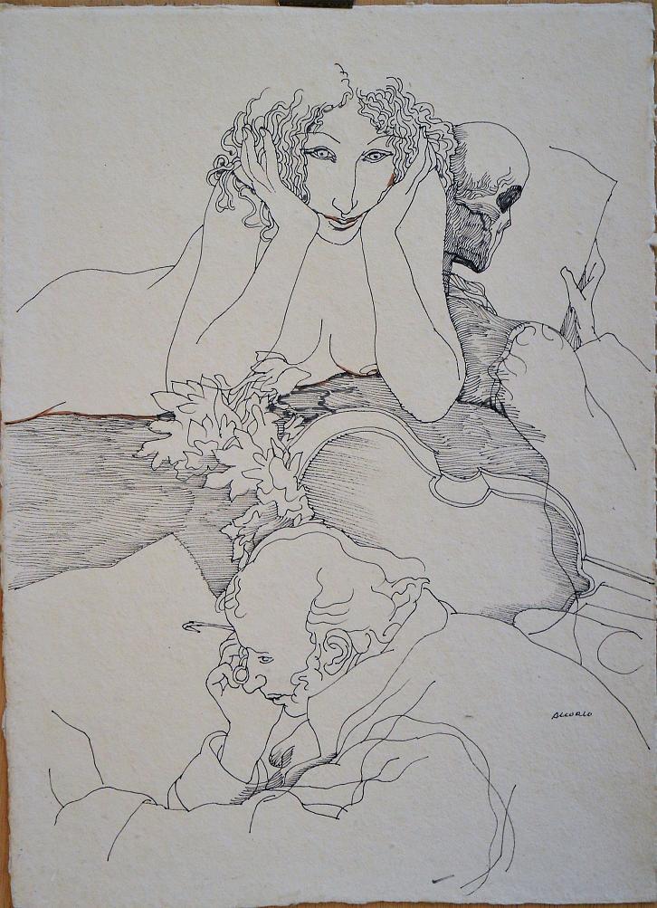 Alcorlo-Manuel-Schubert-La-muerte-y-la-doncella-dibujo-tinta-papel-enmarcado-dibujo-34x25-cms.-y-marco-56x46-cmsa.JPG