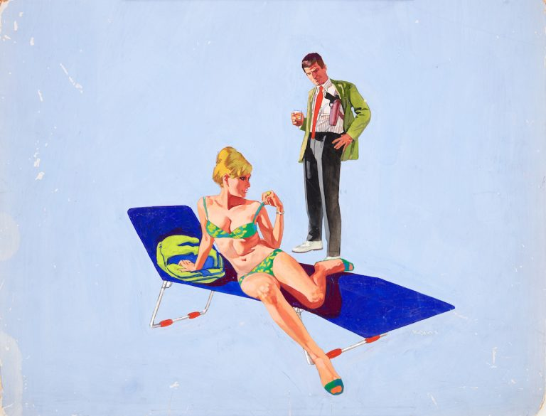 Renato-Fratini_-The-Girl-Hunters_-1967_gouache-on-board_copyright-Lever-Gallery_AW-768x585.jpg