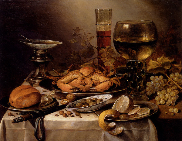 Claesz_Pieter_Banquet_Still_Life_With_A_Crab_On_A_Silver_Platter