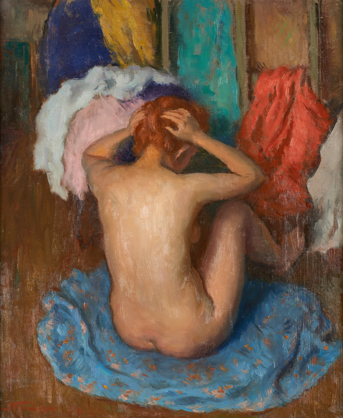 Girl washing her hair)_60 x 50.jpg
