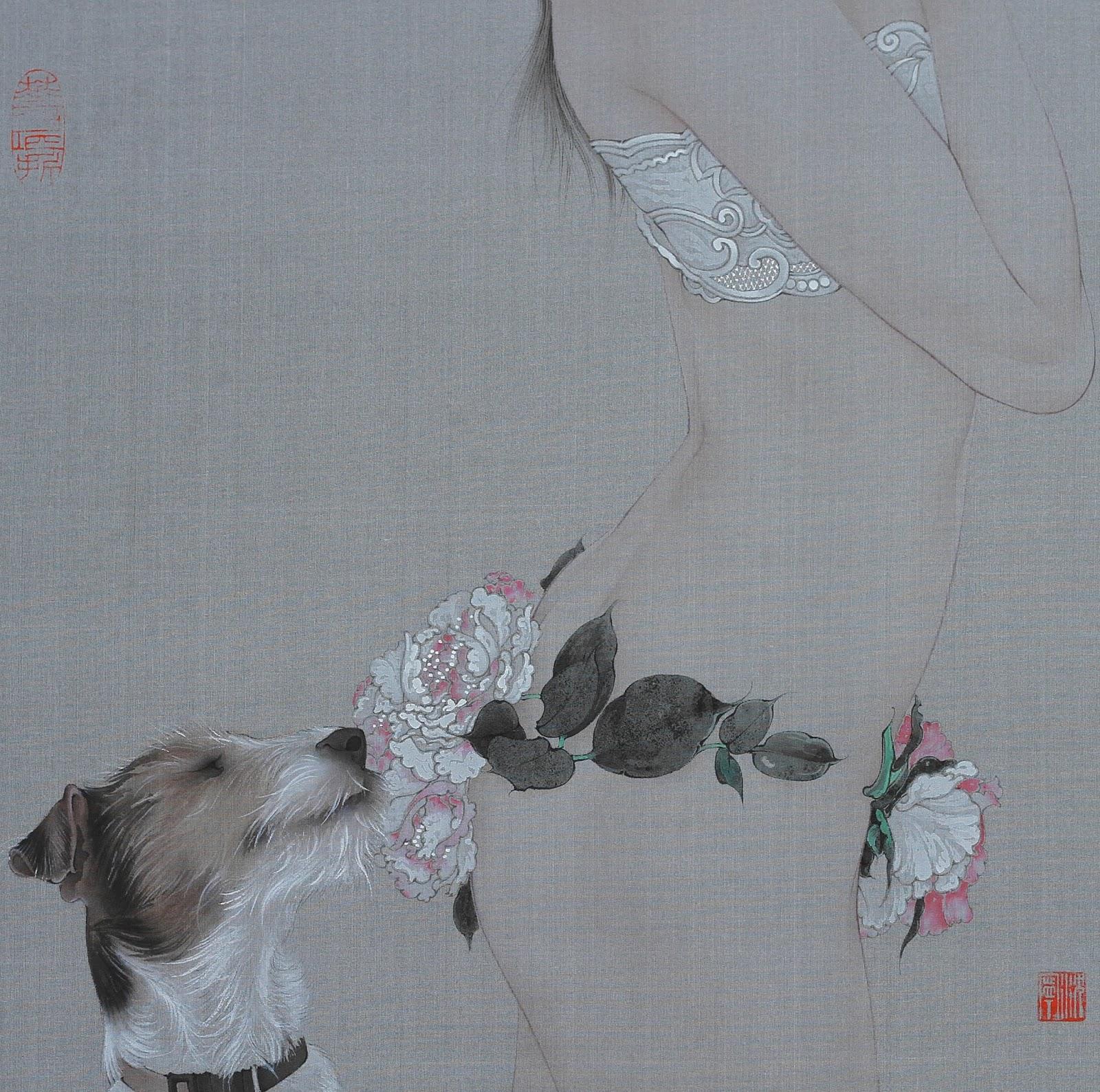 Китайский художник Шэнь Нин (沈宁) Современная, стали, Получается, произведения, эклектичные, создавать, мотивы, вносить, переосмысливать, искусства, китайская, европейского, выпавшее, реализма, знамя, подхватили, Китайцы, Художник, живопись, забавно