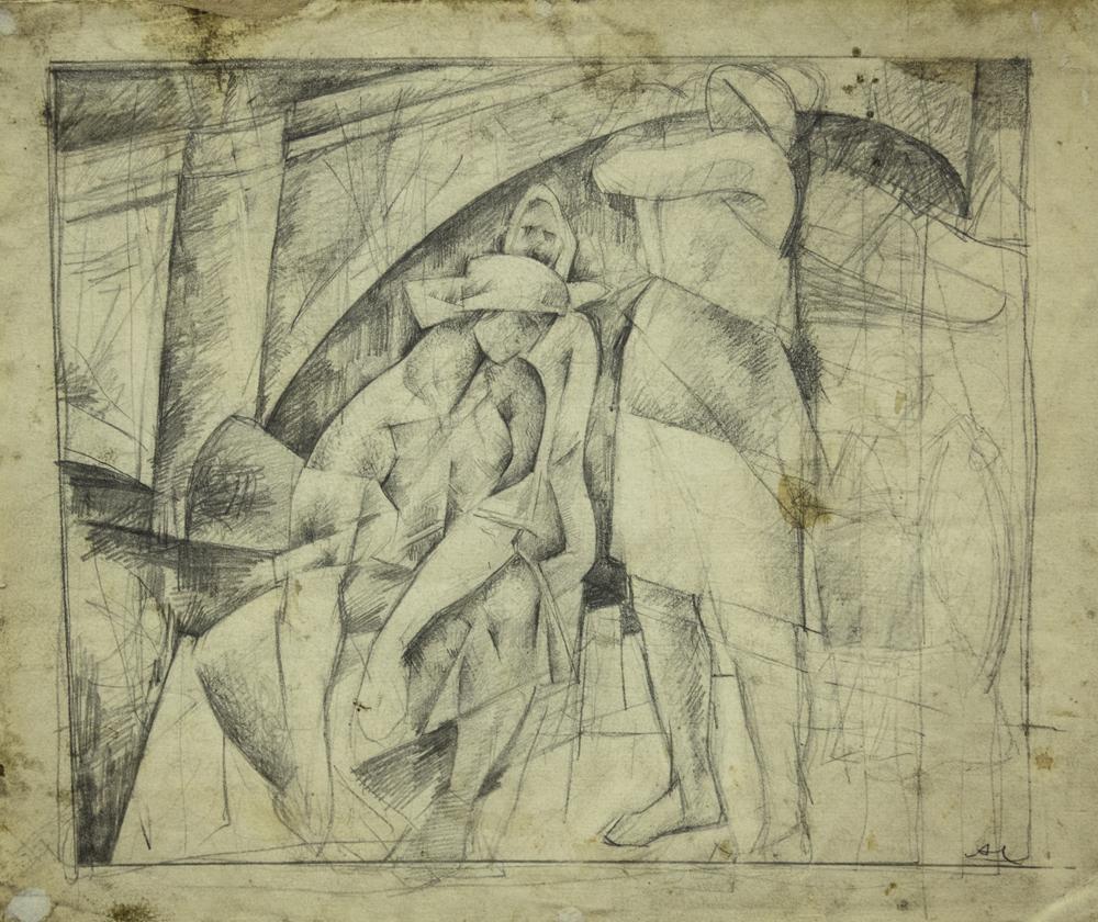 _к композиции «На берегу». 1920-е. Бумага, карандаш. ГХМАК..jpg