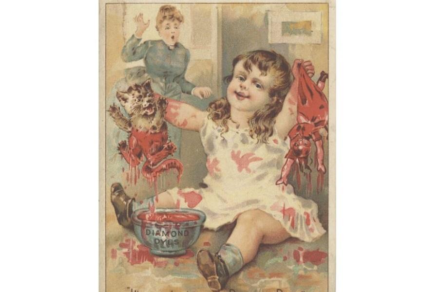 Рекламные викторианские открытки-красочные, забавные и тревожные