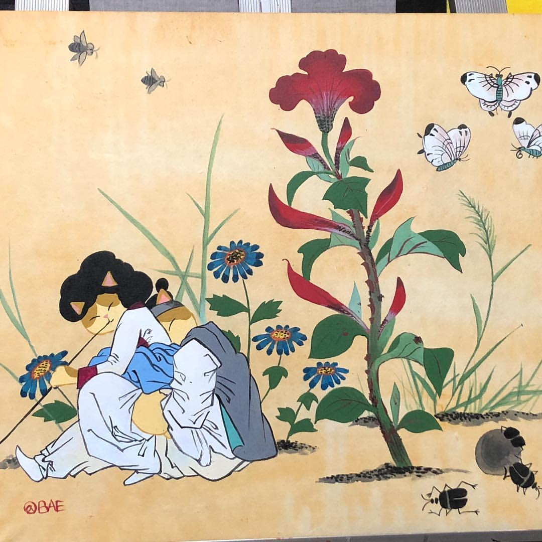 Minjung Bae может, красивее, девушки, качелях, Разве, кошка