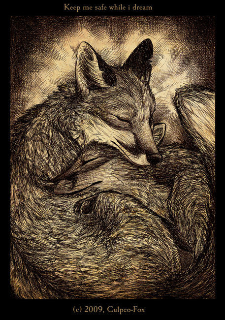 Keep_me_safe_while_i_dream_by_Culpeo_Fox