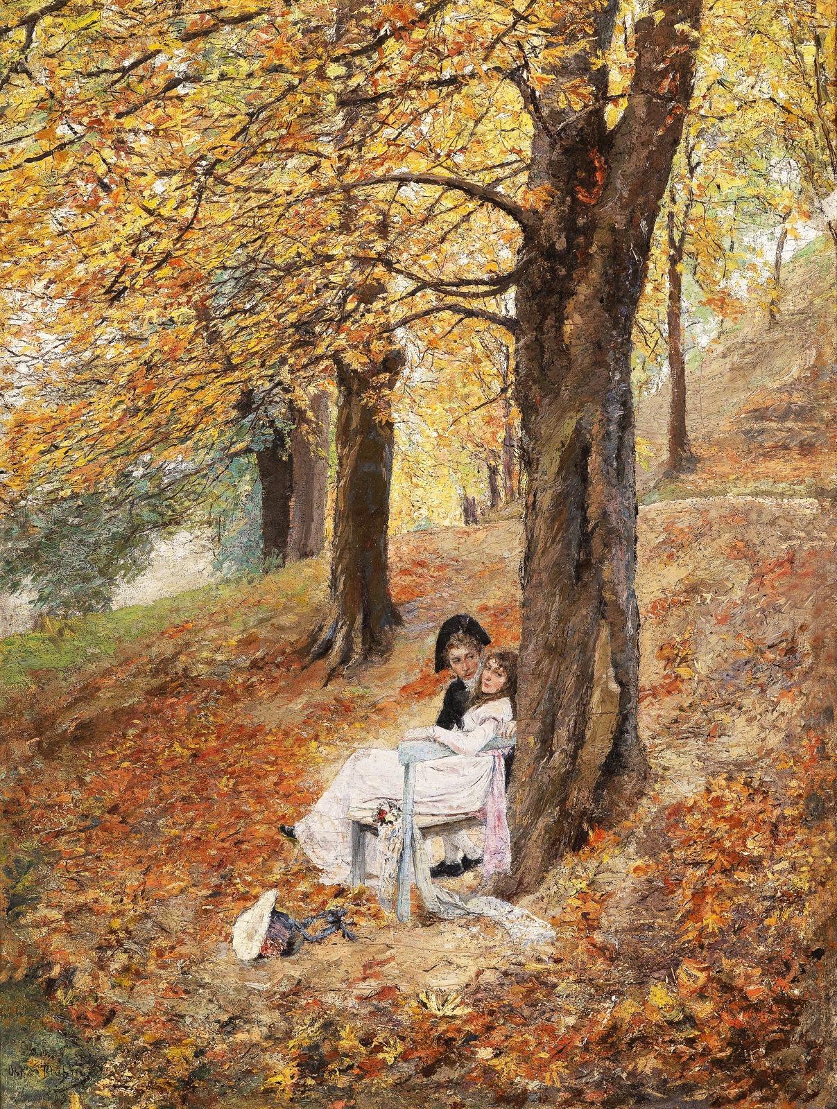 1893_Влюбленная пара в осеннем парке (Liebespaar im herbstlichen Park)_70 х 51_х.,м._Частное собрание.jpg