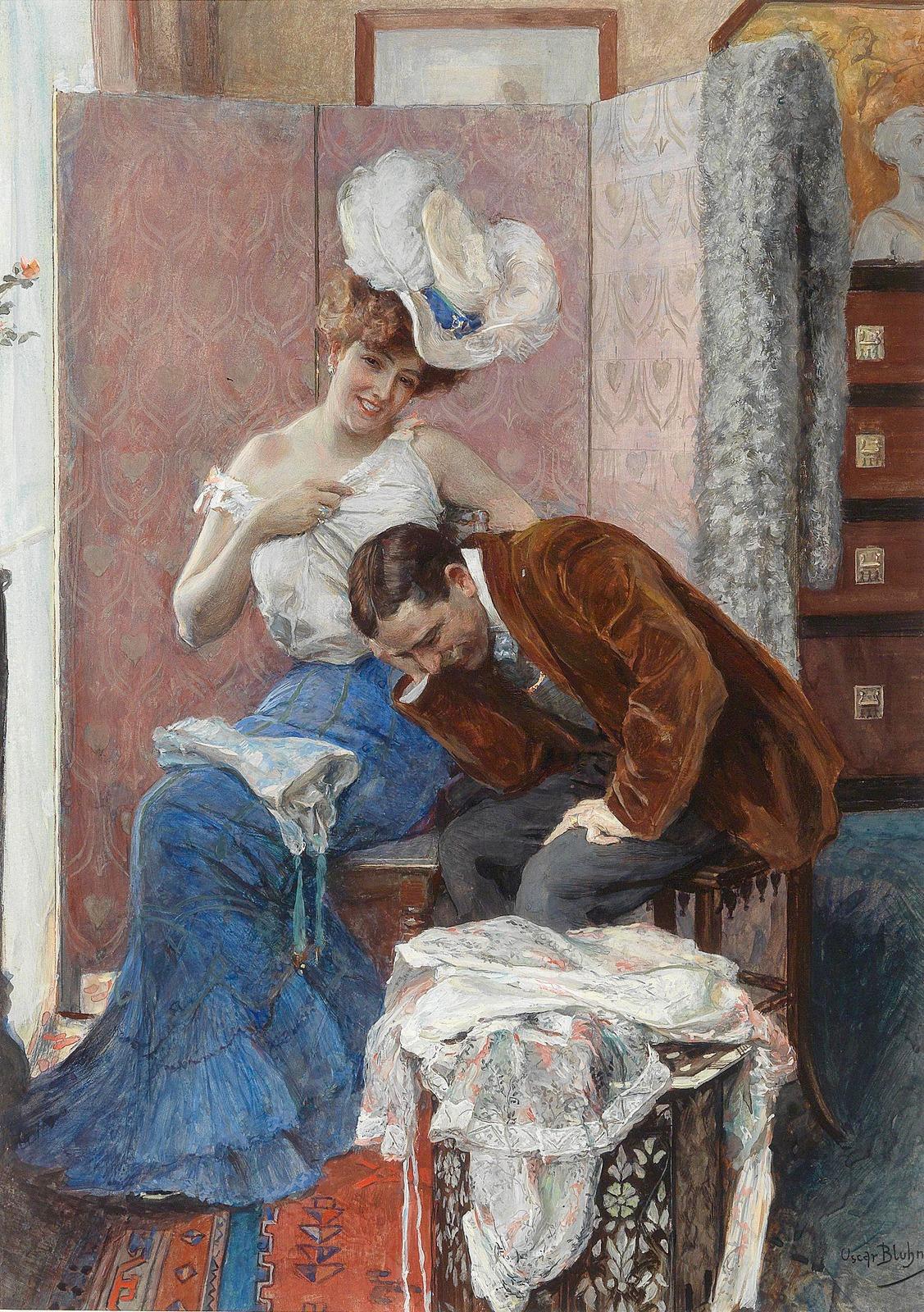 Амурная сцена - врач и пациентка (An amorous scene - the doctor and his patient)_44 х 31_бумага, акварель_Частное слобрание.jpg