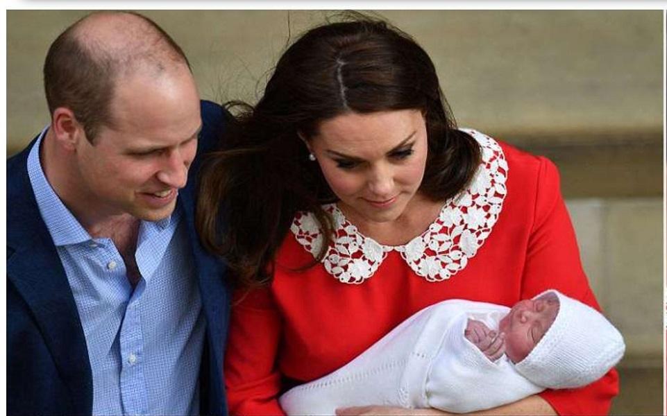 Кейт показывает нового сына