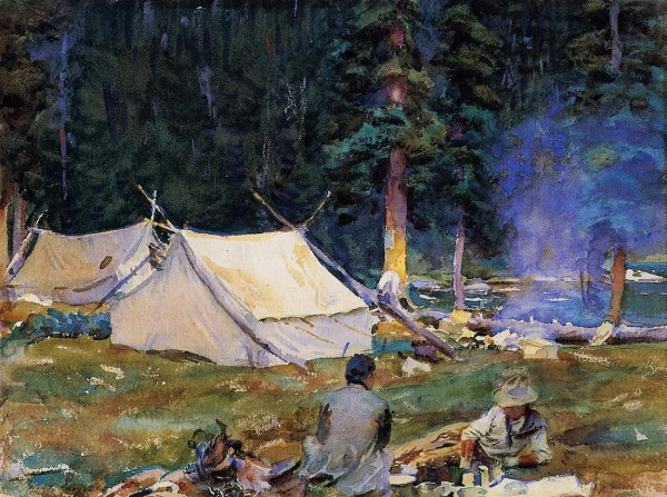 Sargent_John_Singer_Camping_at_Lake_O-Hara