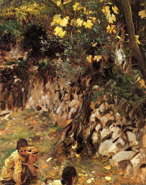 Sargent_John_Singer_Girls_Gathering_Blossoms_Valdemosa_Majorca