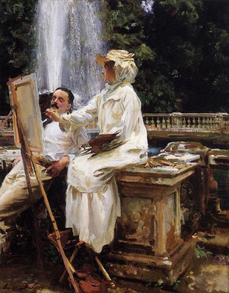 Sargent_John_Singer_The_Fountain_Villa_Torlonia_Frascati_Italy