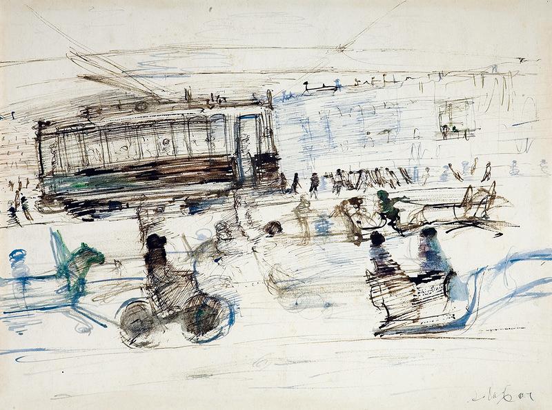 Александр Лабас. Зимой в городе. 1926.