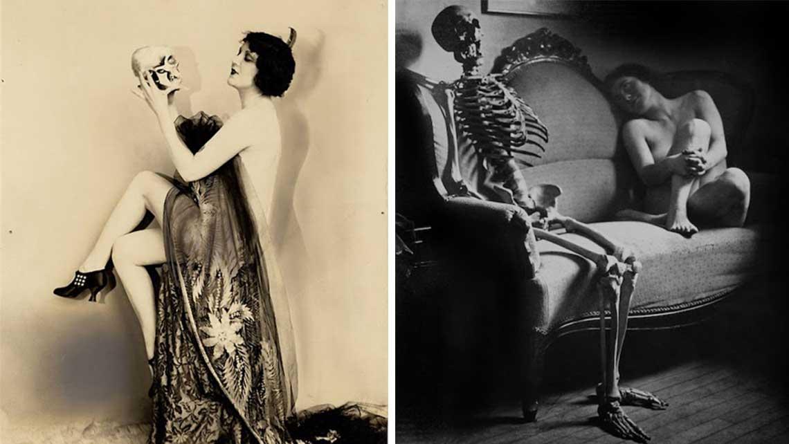 Леди и смерть - викторианская реклама о вреде алкоголя