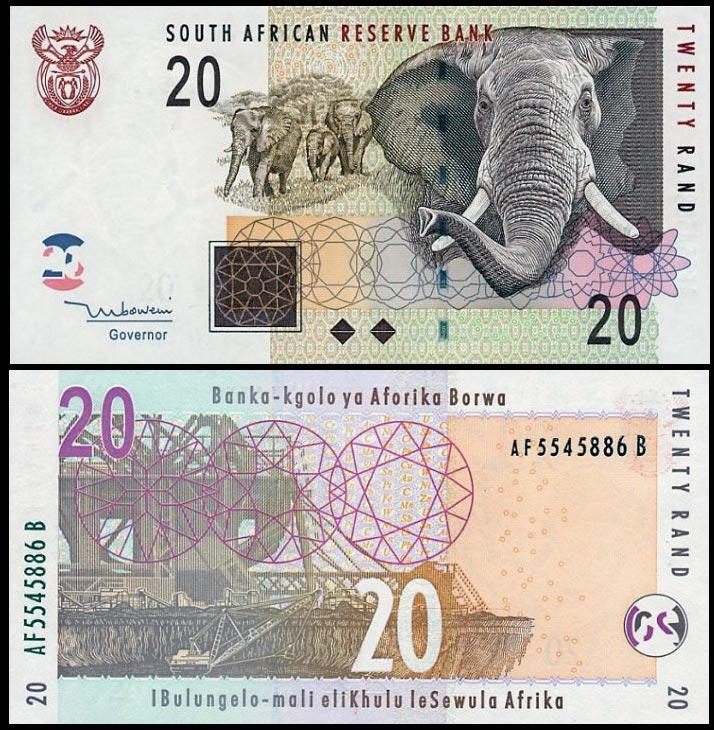 ЮАР, 20 рандов