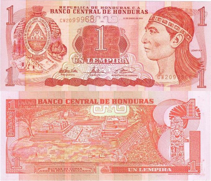 Гондурас, 1 лемпира