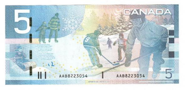 Канада, 5 долларов