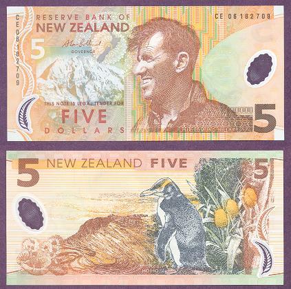 Новая Зеландия, 5 долларов