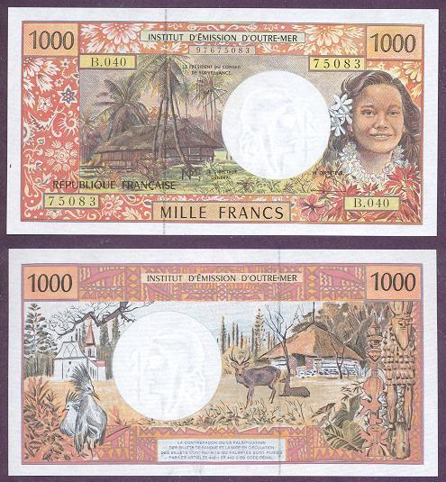 Французская полинезия, 1000 франков