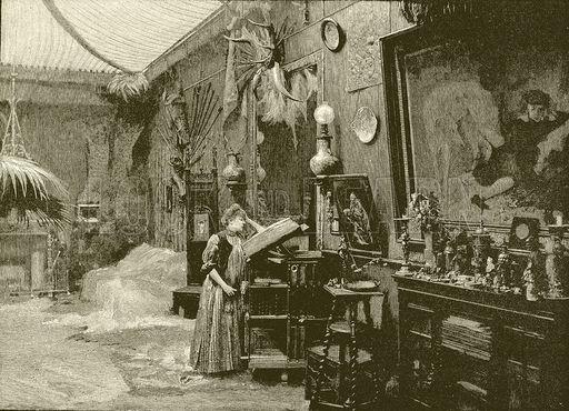 Sarah Bernhardt in her studio