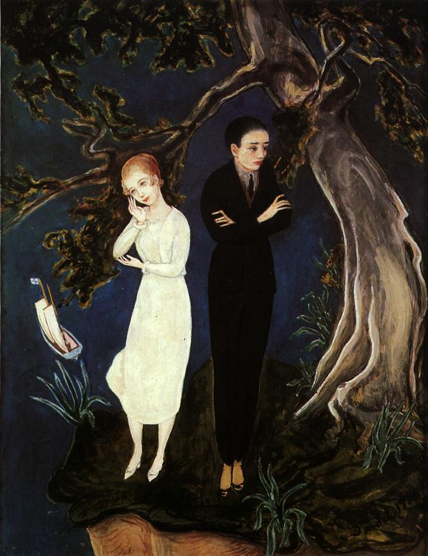 Юноша в черном, девушка в белом. 1919.