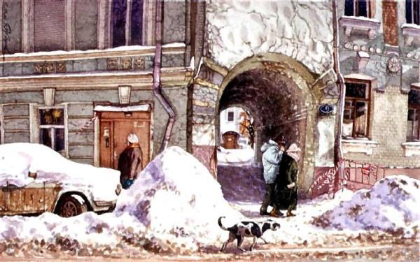 Лялин переулок. Подворотня