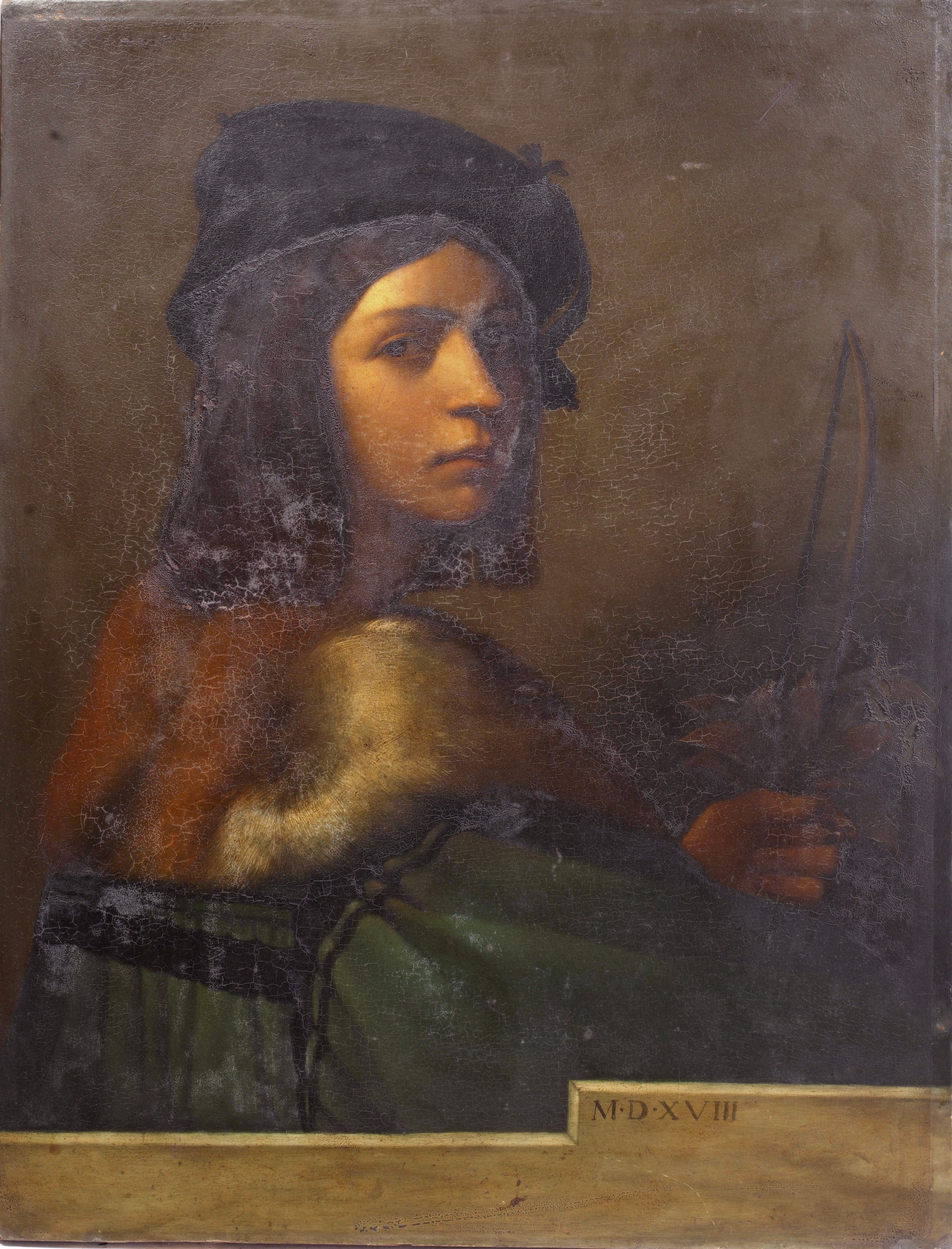 Self portrait, after Sebastiano del Piombo