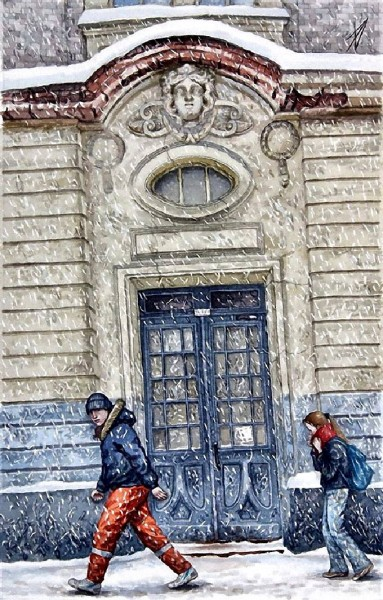 Снег в Лялином переулке