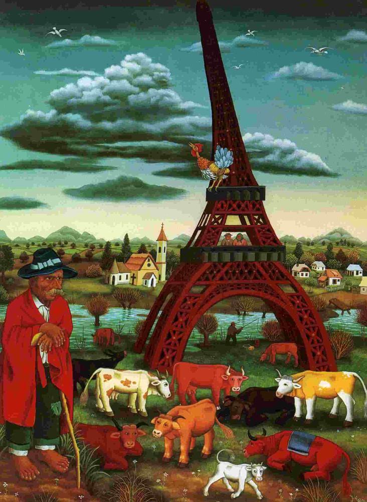 Коровы под Эйфелевой башней, 1972