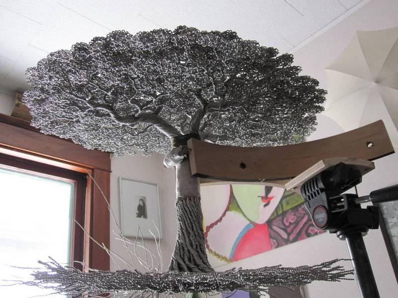 Как сделать металлическое дерево 639