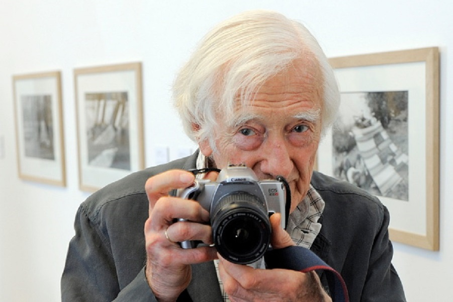 Riboud, Marc - Photographer, France - at the photo exhibition by Cartier-Bresson in Erfurt, Thuringia