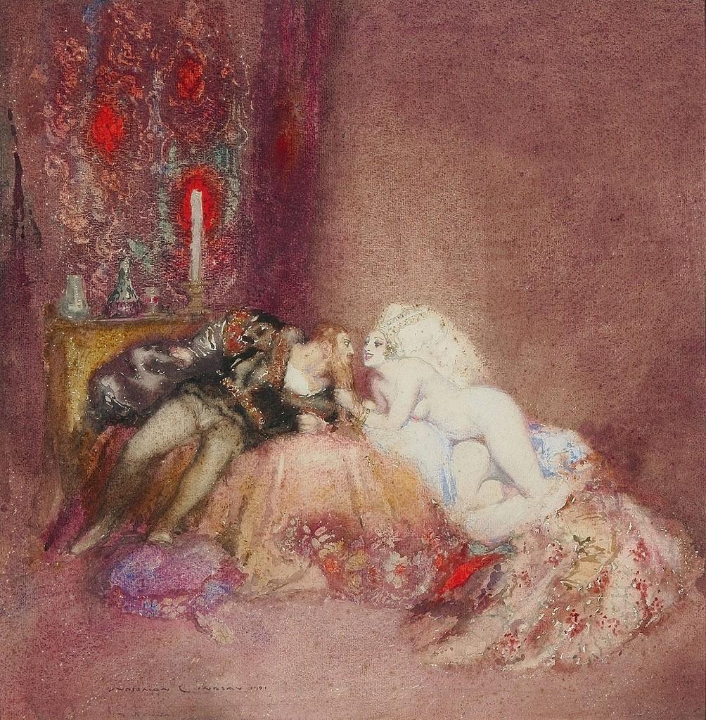 1921_Орлеан и Изабелла (Orleans and Isabella)_40.8 х 40_бумага, акварель_Частное собрание.jpg